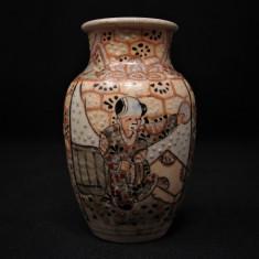 Veche vază ceramică miniaturală Satsuma | sfârșitul sec. XIX | Japonia