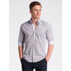 Camasa premium, casual, barbati - K469-alb-rosu