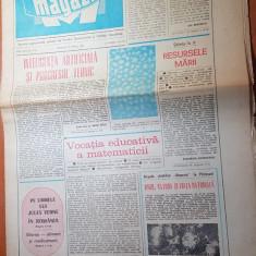 Ziarul magazin 19 aprilie 1980-art. adrian paunescu cu meciul craiova-baia mare