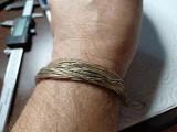 Bratara veche argint cu multe firisoare