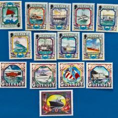 Guernsey, 1999, Mi 819-832, Vapoare,  barci cu vele, pescuit, serie MNH
