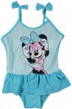 Costum de baie cu volane Disney Minnie Mouse, Albastru