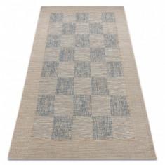 Covor sisal Fort 36217582 tablă de şah bej, 200x290 cm