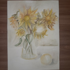 Vas cu flori - acuarela