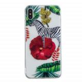 Cumpara ieftin Carcasa Husa Apple iPhone XS Max model Tripping Zebra, Antisoc + Folie sticla securizata Apple iPhone XS Max Tempered Glass Viceversa