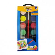Acuarele Bic 12 culori cu pensula 485440