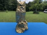 Bufnita,statueta veche englezeasca din bronz masiv