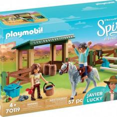 Padoc cu magazie pentru cai Playmobil Spirit
