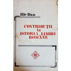 Contributii la istoria limbii romane