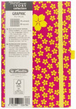 Bloc Notes Ivory Graphic, 192 pagini, patratele, motiv Little Flower, Herlitz