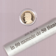 ROMANIA 50 BANI  2019  Regele Ferdinand -  Fisic BNR cu 50 monede + Moneda Proof