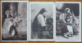5 carti postale interbelice , costume populare romanesti