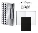 Set Bricheta S.T. Dupont Ligne 2 Palladium Iconic Diamond Head si Note Pad Black Hugo Boss