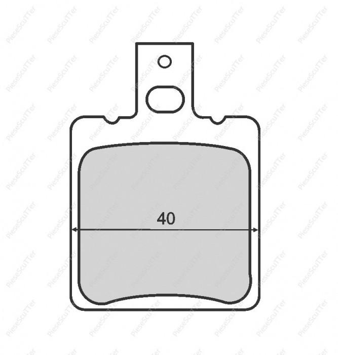 Set 2 Placute Frana Scuter APRILIA SR 49cc - 80cc
