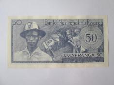 Rara! Rwanda 50 Francs/Amafranga 1969 UNC foto