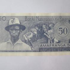 Rara! Rwanda 50 Francs/Amafranga 1969 UNC