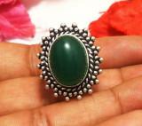Inel argint overlay cu onix verde