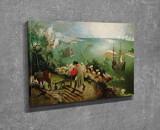 Tablou decorativ, Vega, Canvas 100 procente, lemn 100 procente, 30 x 40 cm, 265VGA1060, Multicolor