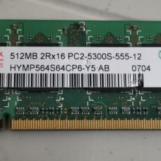Ram Laptop hynix 512MB DDR2 PC2-5300S HYMP564S64CP6-Y5