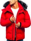 Geacă de iarnă pentru bărbat roșie Bolf 201820