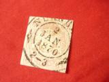 Timbru Bavaria  Bayern 1867 3kr nedantelat stampilat