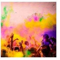 Pudra neon UV HOLI FX , colorata - pachet 500g pentru petreceri