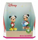 Set figurine Minnie si Mickey, Craciun, Bullyland