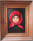 Tablou / Pictura fetita semnat Cimpoesu dupa Grigorescu.
