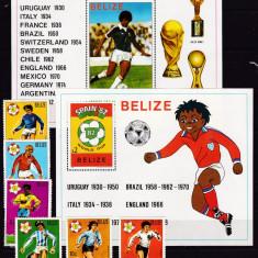 Belize  1981  sport  fotbal  MI 614-619 + 2 bl.45,46   MNH w56  Michel=85