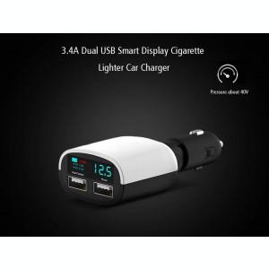 Incarcator-VOLTMETRU Sinco 12-24 Volti Alarma ACUSTICA voltaj Timp Real Dual USB
