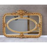 Oglinda baroc din lemn masiv auriu cu o rama deosebita CAT221A
