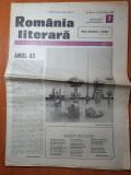 Romania literara 16 februarie 1989-articol ramnicu sarat si tara oasului