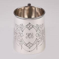 Cana,halba,pahar din argint masiv 925 Anglia Sheffield an 1915,ionizare apa