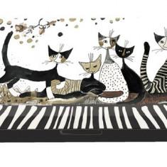 Etui pentru ochelari Rosina Wachtmeister Cats Sepia