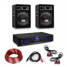 "Electronic-Star Amplificator HiFi și set de boxe, amplificator 2 x 350 W , 2 x boxe 12 "", 300 W RMS"