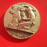 Placheta Comemorativa-55mm-Bronz Argintata-fete diferite-Rara, Europa