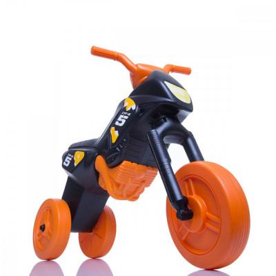 Tricicleta fara pedale Enduro - negru-portocaliu foto
