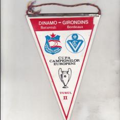 bnk div Fanion Dinamo Bucuresti - Girondins Bordeaux - CCE turul II 1984