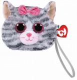 Cumpara ieftin Gentuta De Mana Din Plus Ty 10Cm Kiki Pisica Gri