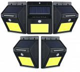 Cumpara ieftin Set 5 Lampi Solare CLD cu 30 LED, senzor de miscare si senzor de lumina CALDA