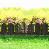 Bordura pt. pat de flori / gard - 61 x 30 cm - Negru Best CarHome