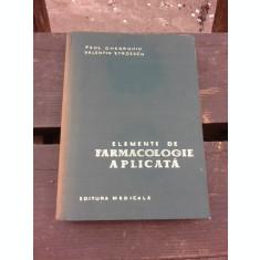 ELEMENTE DE FARMACOLOGIE APLICATA - PAUL GHEORGHIU