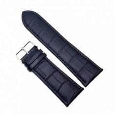 Curea de ceas din piele naturala Neagra - 28mm - A-8E25
