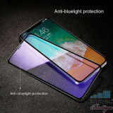 Geam Protectie Display iPhone XS Acoperire Completa 4D Negru, Apple