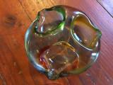 Scrumiera deosebita din sticla realizata in perioada comunista !