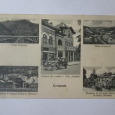 Comarnic-Palatul si birouri fabrica V.Bibescu carte postala colaj,circulata 1936
