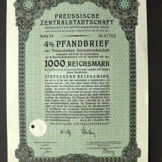 Titlu De Stat Obligatiune Germania 1941-1000-Reichsmark
