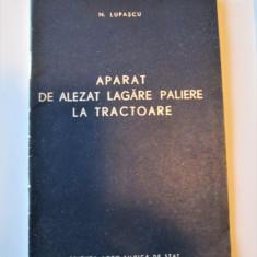 Caiet tehnic: Aparat de alezat lagare paliere la Tractoare (IAR si KD-35) 1956