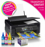 Multifunctionala Epson Expression Home XP-352 cu cartuse reincarcabile T2991-T2994 si cerneala