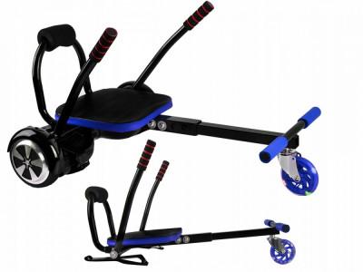 Kart tip Hoverkart pentru hoverboard electric, culoare Negru/Albastru foto